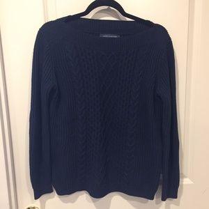 Tommy Hilfiger navy fisherman's knit sweater